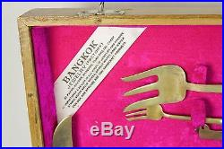 144 Piece Flatware Set from Bangkok Thailand With Wood Box, Mings Jewelry-Complete