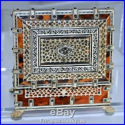 1800s Confectioner's Jewelry Souvenir Cigarette BOX Rosewood Shell