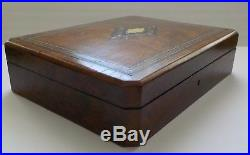 19th C. French Napoleon III Grand Tour Marquetry Inlaid Wood Jewelry Box