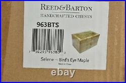 $345 NEW Reed & Barton Selene LARGE JEWERLY CHEST Bird's Eye Maple GLOSS WOOD