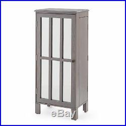 40 Gray Wash Finish Freestanding Jewelry Armoire Jewelry Box Storage Cabinet