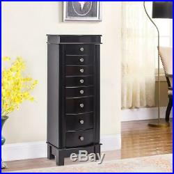 40 Wood Jewelry Cabinet Armoire Box Large Storage Space Chest Stand Holder