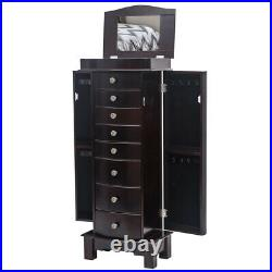 6/7/8 Drawers Jewelry Cabinet Armoire Box Storage Chest Stand Organizer Wood US