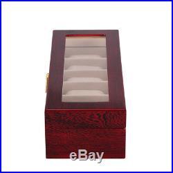 6 Grid Slot Watch Box Display Case Jewelry Collection Storage Organizer DCUK