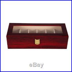6 Grid Slot Watch Box Display Case Jewelry Collection Storage Organizer UKED