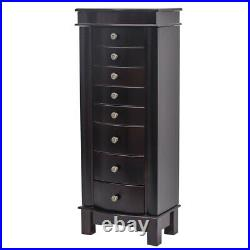 7/8 Drawers Jewelry Cabinet Armoire Box Storage Chest Stand Organizer Wood Gift