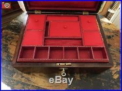 A Charming Oak Victorian Box, Great Colour. Jewellery, Trinkets Etc