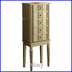 ACME Tammy Jewelry Armoire in Gold