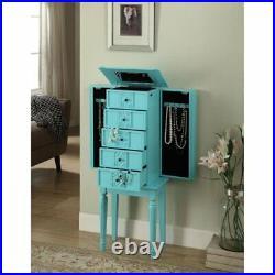 ACME Tammy Jewelry Armoire in Light Blue