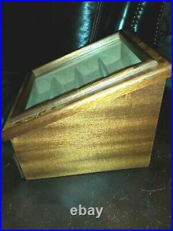 AGRESTI BRIARWOOD Watch & Eyeglasses Jewelry BOX Case Glass Display ITALY