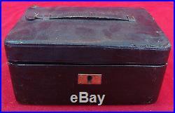 ANTIQUE 1904 BRITISH JEWELRY BOX with lock & key