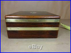 ANTIQUE GEORGE III (REGENCY) ROSEWOOD JEWELLERY/SEWING BOX. C1812 (Code 490)