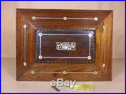 ANTIQUE GEORGE IV SARCOPHAGUS SHAPED ROSEWOOD JEWELLERY/SEWING BOX C1830 Cd 493