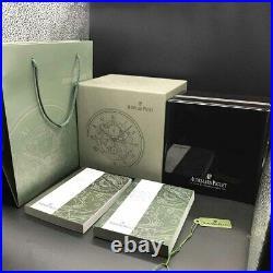AUDEMARS PIGUET Watch BOX Wood AP LUXURY Jewelry Chest White Card Book QUALITY