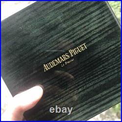 AUDEMARS PIGUET Watch BOX Wood LUXURY Jewelry Chest Green Black Royal Oak Jumbo