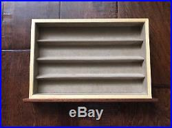 Agresti Briarwood Burl Wood Suede Lined Jewelry Watch Box With Drawers Italy