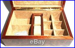 Agresti Florence Italy Lacquer Burl Wood Suede Artisan Crafted Jewelry Box