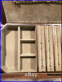 Agresti Italian Burled Walnut Large Jewelry Box