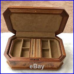 Agresti Italy Burled Walnut Jewelry Box