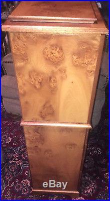 Agresti Jewelry Box case burl wood brier Italy Italian
