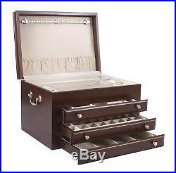 American Chest MAJESTIC Rich Mahogany Finish Jewelry Box Storage Case USA Made