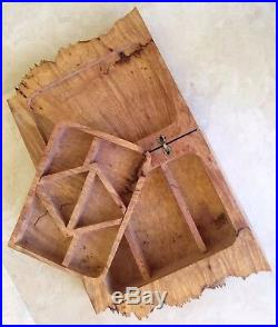 American Craft Live Edge Burl Wood Jewelry Box By Michael Elkan Large+Fabulous