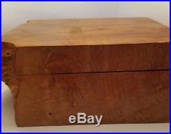 American Craft Studio Birdseye Maple Wood Jewelry Box by Michael Elkan Signed