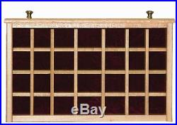 Amish Made Jewelry Box 7 Drawer Solid Oak Wood with Dividers in Drawers