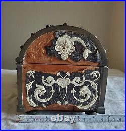 Antique 1800's French Louis XV Tantalus Reliquary Jewelry Box with Cherubs
