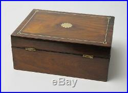 Antique 19th Century Rosewood Ladies Jewellery Box with Fitted Interior Tray