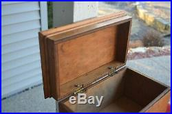 Antique Birdseye Maple Custom Handmade Jewelry Box Miniature Blanket Chest