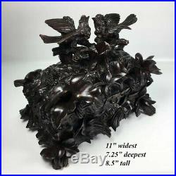 Antique Black Forest 11, Document, Jewelry Box, Casket with Elaborate Carving