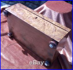 Antique Burr Wood Fully Fitted Sewing Jewellery Box Secret Drawers Circa 1820