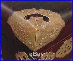 Antique Chinese Asian Hotan Carved Jade Nephrite Jadeite Jewelry Box Casket Case