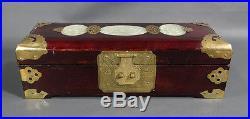 Antique Chinese Asian hand-Carved Jade Nephrite Jadeite Jewelry Box Hetian Case