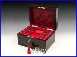 Antique Coromandel Jewellery Box Circa 1870