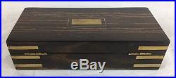 Antique Coromandel Wood And Brass Mounted Razor / Jewellery / Trinket Box