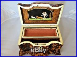Antique English Regency Period Tea Caddy Converted in Jewelry Box, Early 19th C