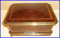 Antique French Footed Jewelry Box Casket by PAUL SORMANI P. Sormani Fils