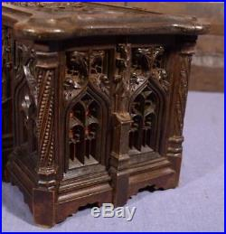 Antique French Gothic Revival Dresser/Jewelry Box/Casket in Oak