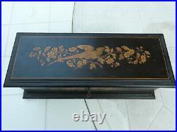 Antique French Napoleon III Marquetry Inlay Glove Jewelry Box