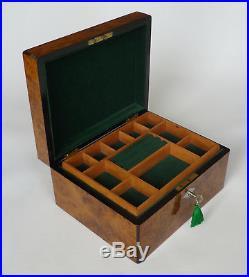 Antique French Thuya Burr & Inlay Jewellery Box
