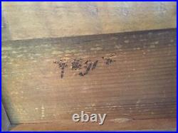 Antique German Black Forest Carved Nesting Birds Jewelry Box Tufted Red Silk
