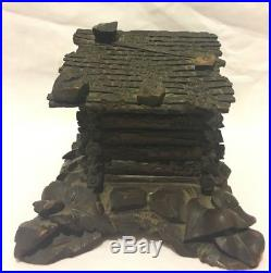 Antique German Black Forest Carved Wooden Jewelry Box