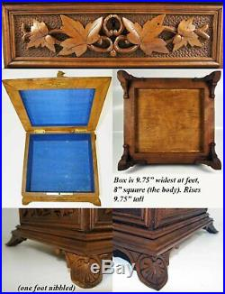 Antique HC Black Forest 9.75 Document, Jewelry Box, Casket with Birds, Excellent