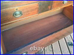 Antique Huntley Furniture Dresser with Swivel Mirror and 2 Jewelry Boxes