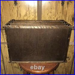 Antique Japanese Handcrafted Tansu Dansu Kiri Wood Jewelry Storage Chest Box 16