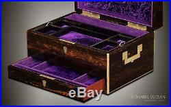 Antique Jewellery Box in Coromandel with Lower Drawer, by William Leuchars