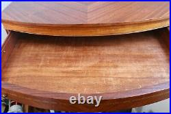 Antique Large 26 3 Drawer Bow Front Jewelry Box with Incredible Wood Design