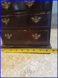 Antique Mahogany Jewelry Armoire/JEWELRY BOX/VINTAGE